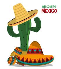 viva mexico celebration party poster vector illustration eps 10
