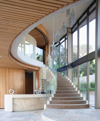 Interior of new modern house, stairs
