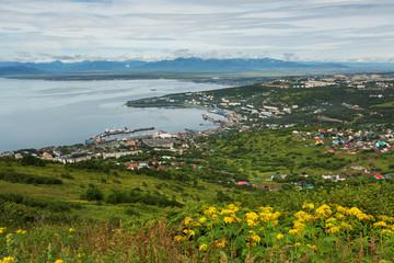 Avacha Bay and Petropavlovsk-Kamchatsky from Mishennaya hills