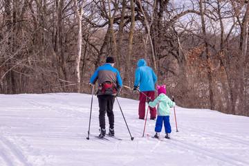 People are enjoying cross-country skiing