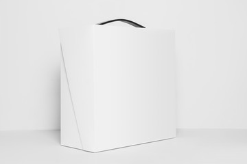 Mock-Up of Blank Square Box Package, Template isolated white background