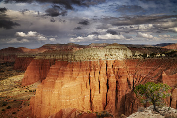 Wall Mural - Cathedral Valley, Utah, USA
