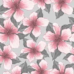 Floral pattern. Watercolor illustration. Background with flowers 2