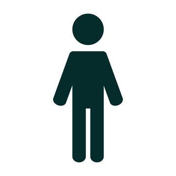 Stick Figure illustration. Stick Man position icon.