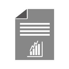 paper document with statistics vector illustration design
