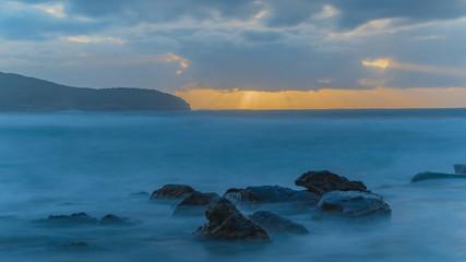 Slow and Smooth Sunrise Seascape