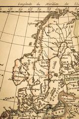 アンティークの古地図 北欧