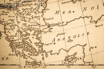 アンティークの古地図 ギリシャ