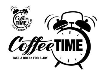Coffee time. Lettering
