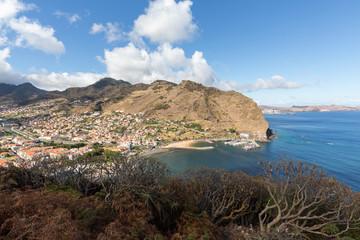 Machico bay on the east coast of Madeira Island, Portugal