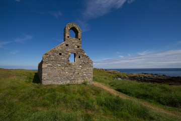 Church ruin at St Michael's Island