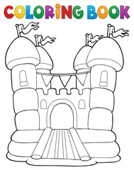 Acrylic Prints For Kids Coloring book inflatable castle