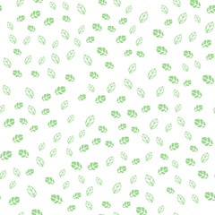 Abstract cute seamless pattern background with green leaves.