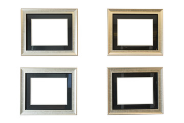 Antique frame isolated on white wall background