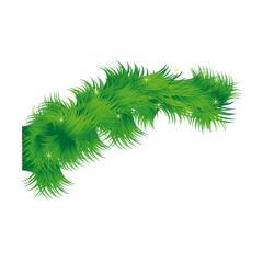 ornament decorative pine arch christmas season vector illustration