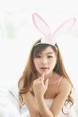 japanese sexy girl cosplay rabbit pink