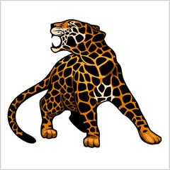 jaguar logo icon vector character illustration