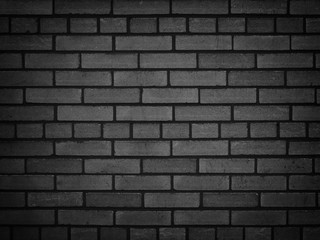 Dark brick wall, texture of a black brick background