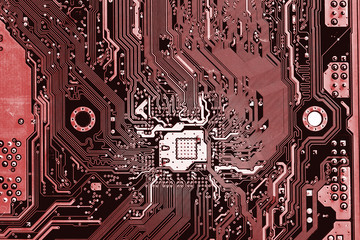 close up of electronics circuit mainboard  A mainboard ( Main board,cpu motherboard,logic board,system board or mobo board