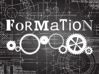 Formation Blackboard Tech Drawing