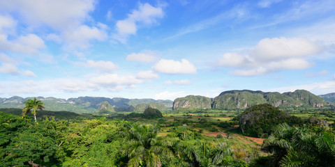 View on the Vinales valley in Cuba