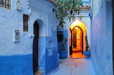 Deurstickers Marokko The blue city of Chefchaouen. Morocco