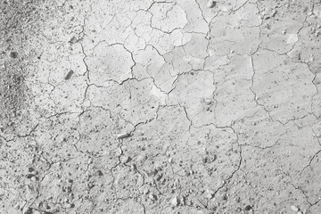 Top view of cracked and barren ground.