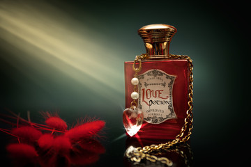 Love potion in a bottle