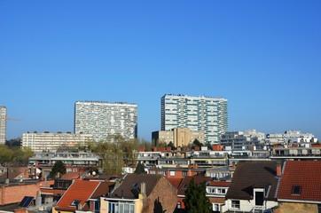 Lever de soleil sur les quartiers Machtens et Mettewie (Molenbeek-Saint-Jean / Bruxelles)