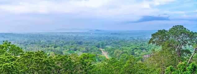 Panorama of Sigiriya Gardens