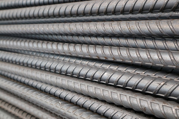 Closeup rebar steel