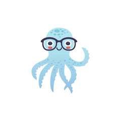 Adorable octopus character