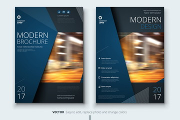 Corporate business annual report cover, brochure or flyer design. Leaflet presentation. Catalog with Abstract geometric background. Modern publication poster magazine, layout, template. A4 size Wall mural