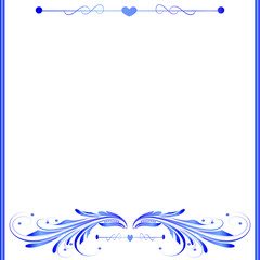 White and Blue Elegant Background