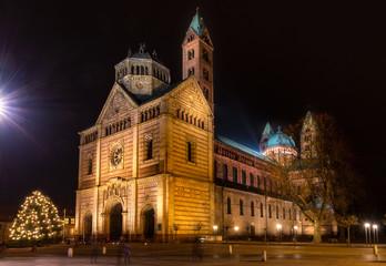 Speyerer Dom, Nachtaufnahme Dom zu Speyer,
