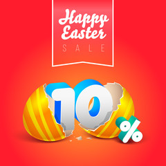 Happy easter sale eggs