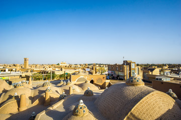 View over the roofs of kashan in  - Iran