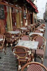 Terrasse de bar à Montmartre, Paris