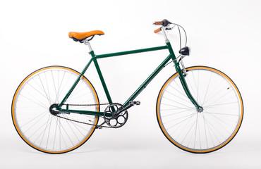 Studio shot of retro styled bicycle