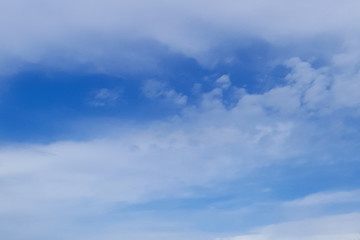 Blue sky, white clouds background