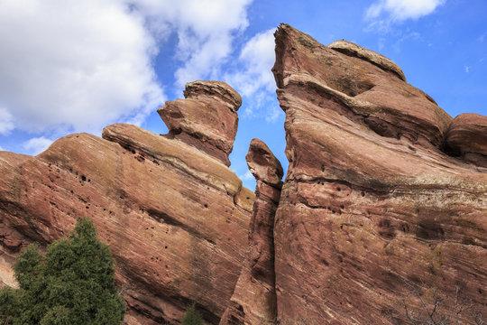 Rock Formation at Red Rocks Park in Denver, Colorado