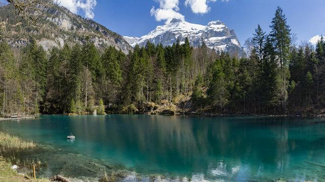 Blausee lake in Switzerland