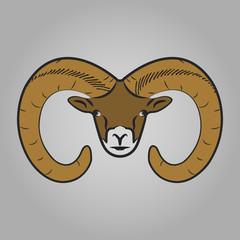 Ram head icon.