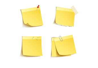 4 Photorealistic Sticky Note Icons
