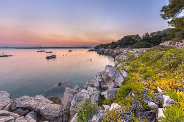 Wall Mural - Croatian rocky touristic coast