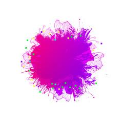 Magic blob artistic background