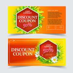 Red discount coupon