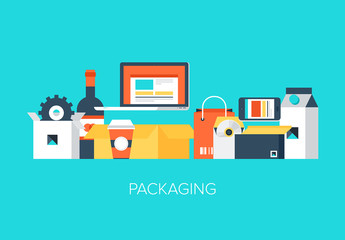 Colorful Product and Packaging Icon Set 1