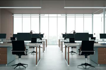 Dark coworking office