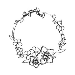 assorted delicate flower crown  icon image vector illustration design
